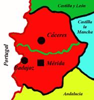 Estremadure Espagne Carte.Gen Iberica Espagne Extremadure Espana Extremadura